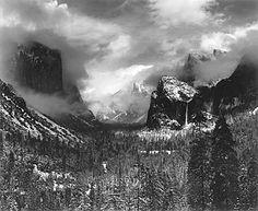 Ansal Adams clearingwinterstorm 1944 by Yosemite Native American, via Flickr
