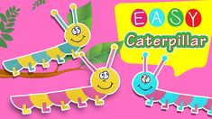 Step by step toy caterpillar figures for kids and adults with just 2 different colours of paper (A4 size paper - 210 x 297 mm).  Create your own caterpillars to use for your decor ideas or just for fun! :) Don't forget to subscribe for easy paper crafts for kids. Paper Crafts For Kids, A4 Size, Just For Fun, Caterpillar, Tweety, Different Colors, Don't Forget, Create Your Own, Decor Ideas