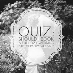 """How do I know if I'll need a full wedding day photography package?"" We have couples ask us this question quite a bit, so we've put together a quiz to help in deciding what will be the best fit for your wedding! // Quiz link in profile // @RevivalPhotos #revivalphotography #revivalweddings #photography #photographers #weddingsnc #love #favorites #northcarolina #thelifeofaweddingphotographer #fineartweddings #weddingday #weddingadvice #weddingprofessionals #fulldaywedding"