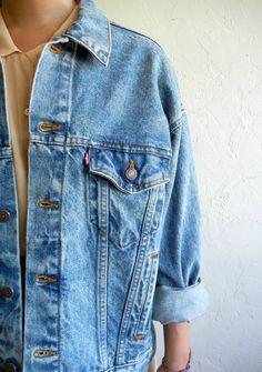 Levi's Oversized Acid Wash Denim Jacket
