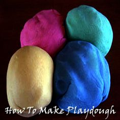 "How To Make Play-Dough - This is an easy no-cook recipe for making playdough with your children. Homemade playdough lasts a long time and is a super fun thing to make that your children can help with! For extra sparkle you can even add glitter to the mix and make what we call ""Galaxy"" play-dough."