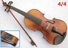 US $147.25 Electric Spruce violin 4/4 violin handcraft violino Musical Instruments with Pickup violin rosin case violin bow. Aliexpress product