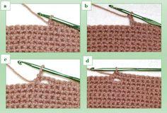 Horizontal Two-Row Crochet Buttonholes