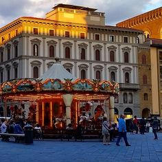 The merry go round in #Florence. Possible one of the most photographed subject in the city... and a good one too. I always do a new shot every year! #travel #italy #visitflorence #wanderlust