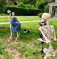 Halloween Outside, Halloween Boo, Outdoor Halloween, Holidays Halloween, Halloween Ideas, Scary Halloween Decorations, Halloween Displays, Spooky Scary, Halloween Skeletons