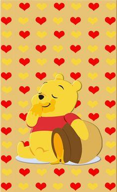 Image via We Heart It #cute #pooh #wallpaper