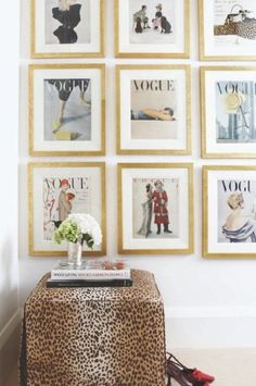 Framed Vogue Covers in a Dressing Room from Canadian Home