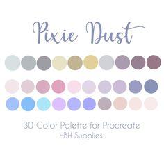 Flat Color Palette, Colour Pallette, Colour Schemes, Color Combos, Pixie, Web Design, Design Color, Design Palette, Ipad Art