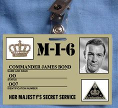 James Bond ID Card Movie Prop Agency Costume collection