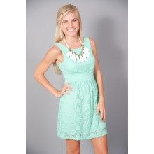 This would be PERFECT!!!! MUST FIND.....ONLINE EXCLUSIVE: Only A Moment Dress-Mint - $48.00