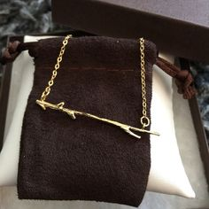 """Minimalist Branch Necklace ✨On Trend✨ Gold Toned Branch Necklace. Indie Chic, Minimalist.  Adjustable Length, apx. 17+"""" (See Pic) Fabulous With A Simple Tee or LBD. Costume Jewelry. BRAND NEW. Arrives Beautifully Wrapped Jewelry Necklaces"""
