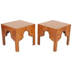 Pair of Burl Silhouette Occasional Tables by Drexel | 1stdibs.com