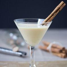 Cinnamon Bun Eggnog Martini! What?!