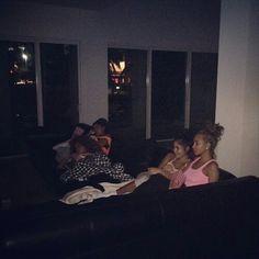 squad movie night .•eboni•