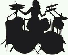 Drummer Girl Drummer, Female Drummer, Drummer Humor, Rockstar Birthday, Drums Art, Guitar Art, Rock Star Party, Drum Music, How To Play Drums