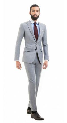 Sullivan Gray Pinstripe Suit http://www.blacklapel.com/suits/sullivan-gray-pinstripe-suit.html