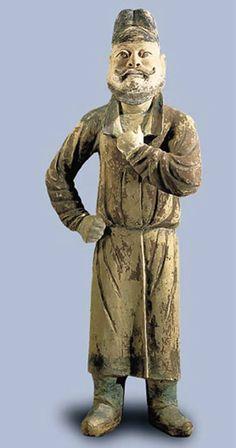 Doğu Türkistanda bulunmuş bir heykelcik.. Türk Uygur Erkek Figürü