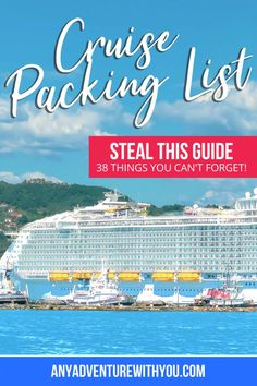 Packing List For Cruise, Cruise Tips, Cruise Travel, Cruise Vacation, Cruise Checklist, Packing Lists, Cruise Excursions, Cruise Destinations, Caribbean Vacations