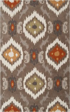 This popular contemporary rug features stylish design in rich neutral shades. Hand-tufted, this rug will add touch of style and elegance to any room. Primary materials: Polyester Latex: Yes Pile heigh