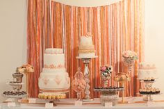 Backdrop is pretty and easy - ribbons or crepe paper streamers