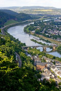 Bike tour along Moselle River in Germany.