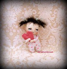 Valentine baby cloth doll by suziehayward on Etsy, $59.00