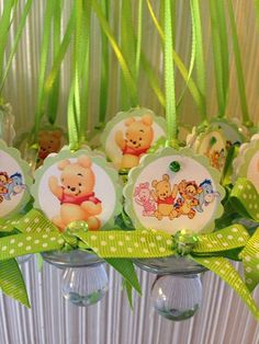 Winnie The Pooh Baby Shower Pacifier Necklace By Designsbyemilys, $23.99