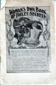 Woman's Own Book of Toilet Secrets (date unknown) fully scanned copy of the magazine here