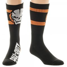 Call of Duty Black Ops 3 Athletic Black Crew Socks
