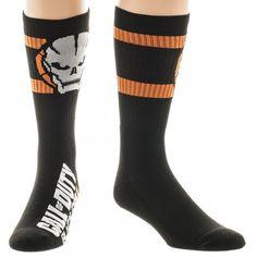 Call of Duty Black Ops 3 Athletic Black Crew Socks