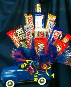 Great idea for my husband at work!  He loves ford trucks as well as candy!!