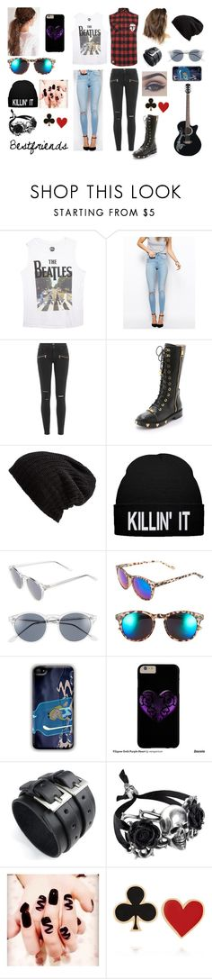 """""""Untitled #151"""" by mariamargaux-1 on Polyvore featuring Mikey, Wet Seal, ASOS, Paige Denim, Moschino, Free People, A.J. Morgan, Sole Society and Alison Lou"""