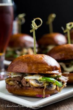 Philly  Cheese Steak Sliders #tailgating #fingerfood