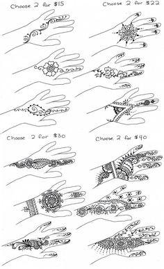 Simple henna designs:                                                                                                                                                                                 More
