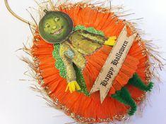 Veggie Woman HALLOWEEN vintage style CHENILLE by StanleyAndStewart, $7.50