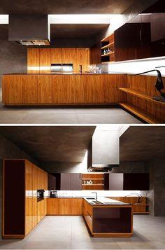 Fitted #kitchen YARA VIP by CESAR ARREDAMENTI | #design Gian Vittorio Plazzogna #wood @Cesar Cucine & Living