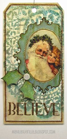 Vintage Crafts Handmade Gifts Christmas Tag Ideas For 2019 Christmas Paper Crafts, Christmas Gift Tags, Xmas Cards, Handmade Christmas, Vintage Christmas, Christmas Ideas, Penny Black, Handmade Tags, Winter Cards