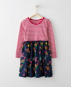 63733fe1b8 Mixie Playdress Hanna Andersson, Gathered Skirt, Wrap Around, Bell Sleeve  Top, Stripes