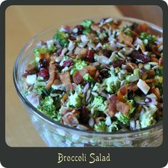 Broccoli Salad  (going to replace the craisins with raisins)