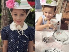 Creative & Interactive (diy) tea party hat for little girls.