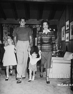 Ronald Reagan, wife Jane Wyman, son Michael and daughter Maureen