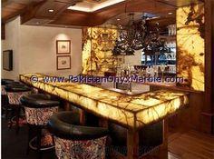 Backlit Onyx Kitchen Countertops Backlighting Surrondings Walls Panel Led Light