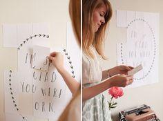 birthday cards – DIY printable template collaborative postcards [IDEA post-it printables]