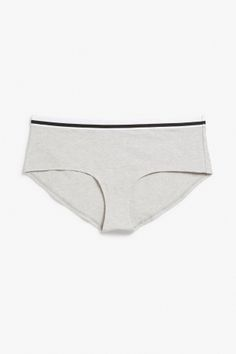 Soft briefs in a classic hipster model with a sporty stripe to set the mood. Organic cotton and elastan for stretch. Grey Clouds, Monki, Nightwear, Bikinis, Swimwear, Organic Cotton, Underwear, Hipster, Sporty
