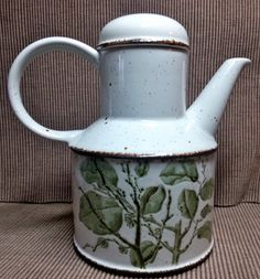 Greenleaves Coffee Pot with lid Vintage Midwinter Stonehenge