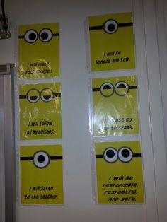 Minion classroom rules.