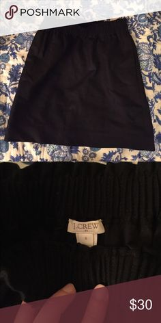 NWOT JCREW black bag skirt size 6 Perfect condition! NWOT, please ask questions if interested J. Crew Skirts Pencil