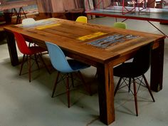 Recycled Timber Dining Tables Hand Made By Neel Dey Furniture
