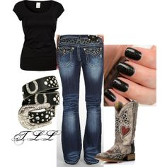 This is a really cute outfit - cool boots