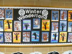 winter trees (Reception class)
